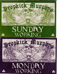 Dropkick Murphys backstage pass House of Blues Boston